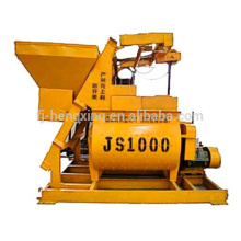 JS1000 compulsary twin shaft concrete mixer, concrete mixing machine