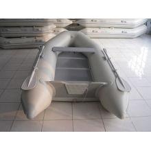 Pequeno barco inflável barco de pesca piso de compensado
