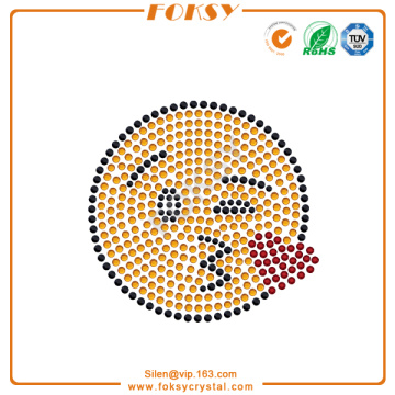 Hot Sale for China Manufacturer Supply Rhinestone Graphics, Graphics Rhinestone Hotfix Motif, Graphics Rhinestone Transfer Face Throwing a Kiss emoji rhinestone designs supply to Saint Lucia Factories