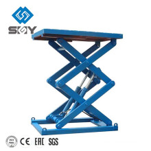 Electric hydraulic movable Scissor lift motorcycle elevator