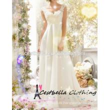 Neues preiswertes reizvolles backless Maxi Hochzeitskleid 2016