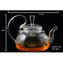 Pot à thé en verre rose à base de borosilicate de haute qualité avec bouchon d'insertion en acier inoxydable