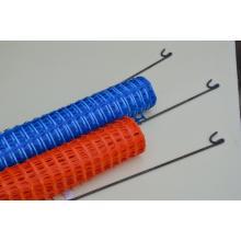 orange plastic barrier net