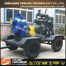 Diesel Water Cooled Self Priming Irrigation Water Pump on Wheels