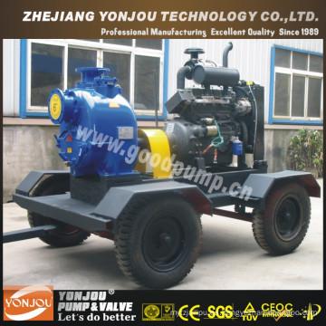 Bomba de agua de irrigación con autocebado y enfriamiento por agua diesel sobre ruedas