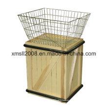 Basket of Values Merchandiser Wood and Metal