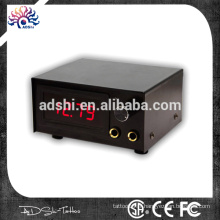 Noir et rouge LED Digital Dual Tattoo Power Supply