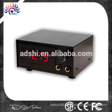 Black and red LED digital Dual Tattoo Power Supply
