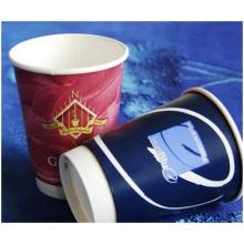 12oz doppelte Wegwerfvakuum-Verdickungspapierschalen, hohles Getränk-Cup