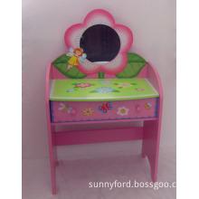 MDF Kids Dresser, Wooden Kids Dressing Table, Wood Kids Vanity Table