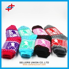 Cotton Lining Jacquard Thick Winter Floor Socks