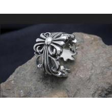 Zeigefinger Ringe Kreuz Hohl Ringe Titan Stahl Unisex Mode