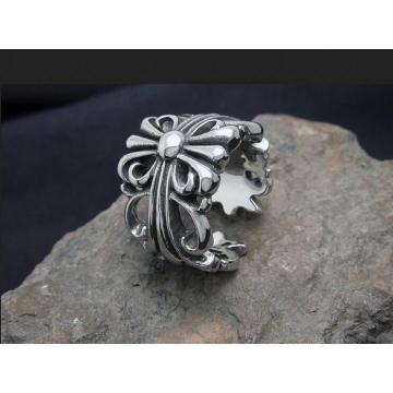 Forefinger Rings Cross Hollow Rings Titanium Steel Unisex Fashion