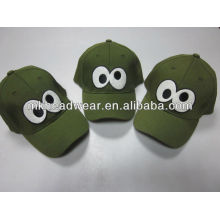 cute child's baseball cap with embroidery patch