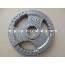 Placa de peso de 5 polegadas de ferro fundido 5 kg 20 kg