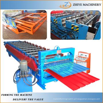 Metal galvanizado painel de aço de dupla camada frio formando máquina / double decker máquina de fazer frio