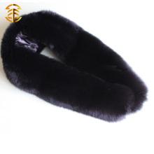 2016 estilo único teñido cola de cola de cola larga bufanda de piel natural capucha desmontable collares bufanda