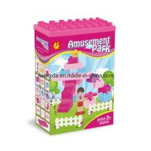 Rompecabezas plástico del edificio del parque de atracciones del ABS para los niños