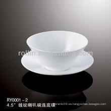 Sanos especial duradera de porcelana blanca taza de té chino conjunto
