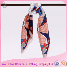 Factory Supply Custom Digital Print Silk Scarf with many colors
