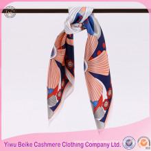 Fábrica de suprimentos de impressão digital de seda cachecol de seda com muitas cores