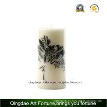 Vela perfumada hecha a mano del pilar para la decoración casera