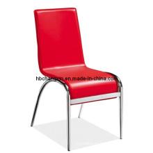 Moderno clásico rojo PU silla para uso del restaurante