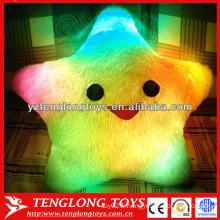 2015 Hot star Star LED oreiller coloré brillant led lumière oreiller léger