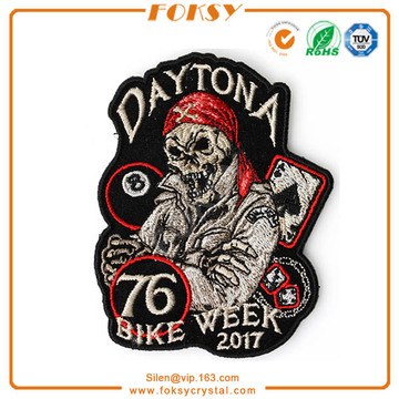 Daytona logo momia 2017 remiendos bordados al por mayor