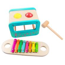 Jeu de jouets multifonctions en bois avec poinçon et xylophone