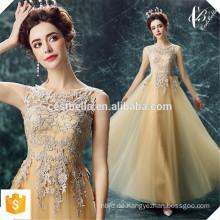 Sequin-lange goldene Abend-Kleider 2016 Neue Ankunfts-Frauen-elegante lange goldene formale Kleider-Abendessen-Kleid