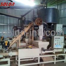 Different size wood sawdust block making machine