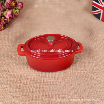 Red Enamel cast iron mini cocotte