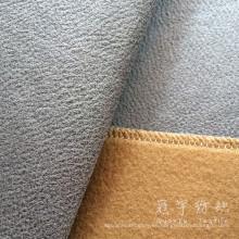 Tela de cuero artificial cepillada detrás para el sofá