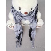 Fashion men's fringe square scarf