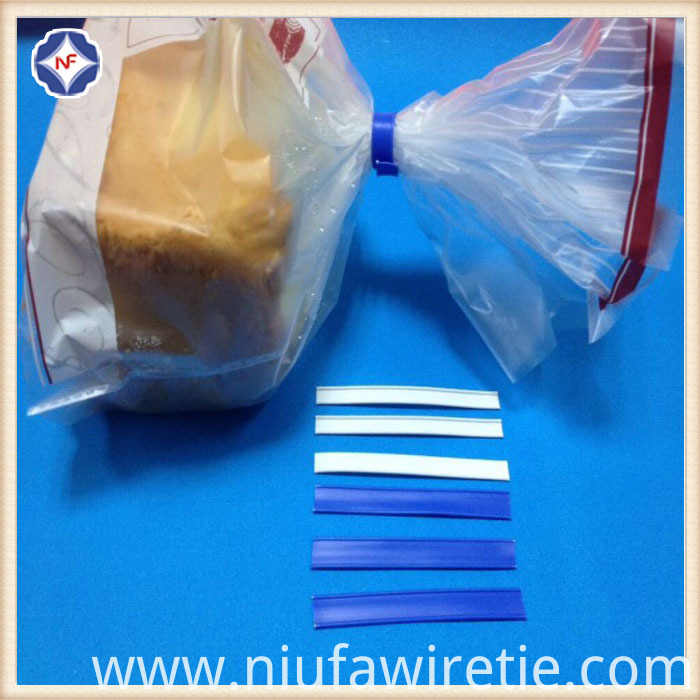 Plastic coated wire twist tie