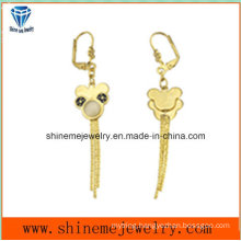 Fashion Jewelry Gold Plated Stainless Steel Eardrop Earring (ERS7002)