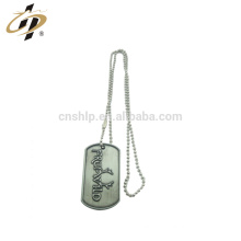 Factory zinc alloy custom logo metal custom dog tag necklace