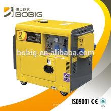 El aire caliente de la venta enfrió el sistema de generador diesel 5.5KW trifásico o solo fase