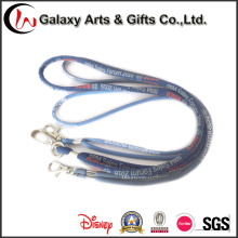 Customized Woven Logo Polyester Cord Rope Lanyard for Card