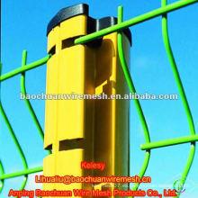 Valla de malla de alambre de carretera soldada con recubrimiento de PVC