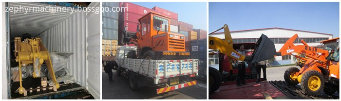 wheel loader shipping