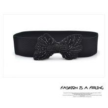 Lady fashion elastic beaded belt