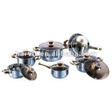 Red bakelite Stainless Steel Sauce Pans