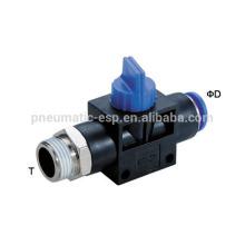 valves à main en plastique poussent dans HVSF pneumatique