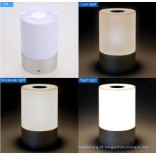 Portable Wireless Touch Sensor LED Lâmpada com Dimmable 3 Nível Warm White Light & Seis cores mudando RGB