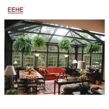 Jardim de inverno de alumínio de vidro livre do quadro do Sunroom da casa de campo da China ereta