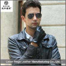 China-Lieferanten-Qualitätsmänner lederne Handschuhe für das Fahren