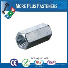 Made in Taiwan DIN 6334 Hexagonal Coupling Nut Hexagon Long Nut Hex Connection Nut