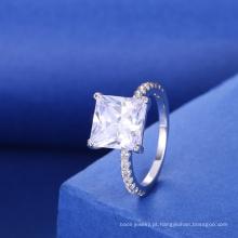 Senhoras fantasia acessórios quadrados gemstone anéis anéis de noivado modelo